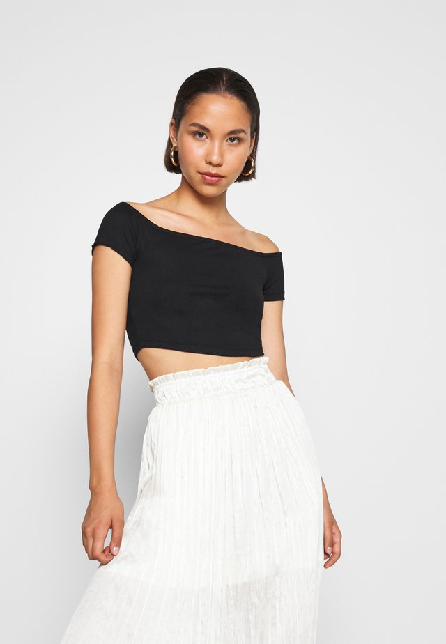 PAMELA REIF OFF SHOULDER  - T-Shirt basic - black
