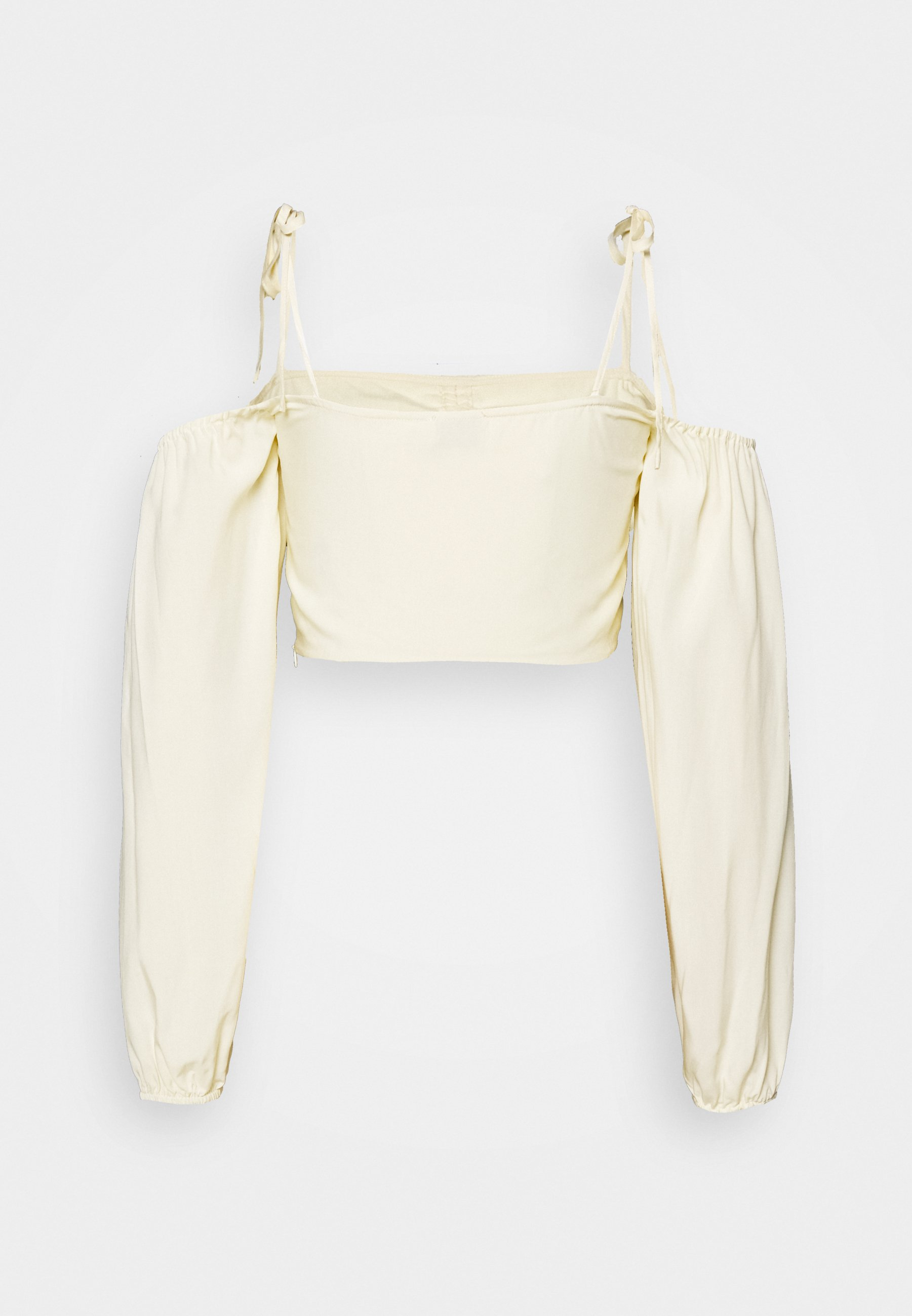 NA-KD FRONT TIE CROPPED - Bluser - white