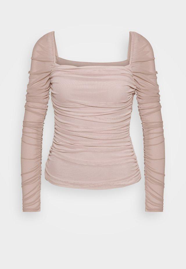 SQUARE NECK - Långärmad tröja - beige