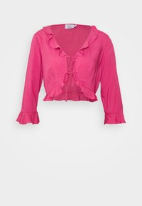 NA-KD - PAMELA REIF X NA-KD FRILL DETAIL TIE  - Blouse - rosewood - 3