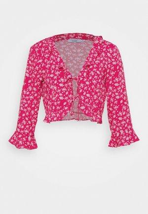 PAMELA REIF X NA-KD FRILL DETAIL TIE  - Blouse - pink