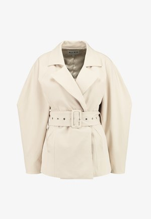 WIDE BELT - Blazer - beige