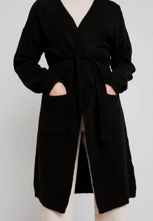 gorąca wyprzedaż w 2019 roku NA-KD LONG CARDIGAN - Kardigan - black Odzież Damska PAXC-ND2