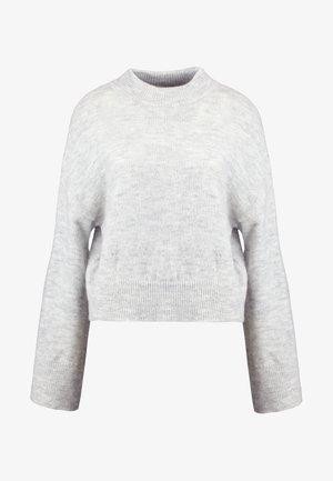 WIDE SLEEVE ROUND NECK - Strikpullover /Striktrøjer - light grey