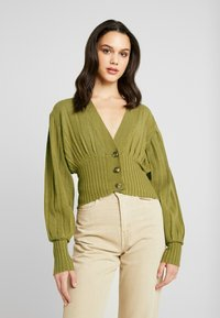 NA-KD - SHORT - Cardigan - olive green - 0
