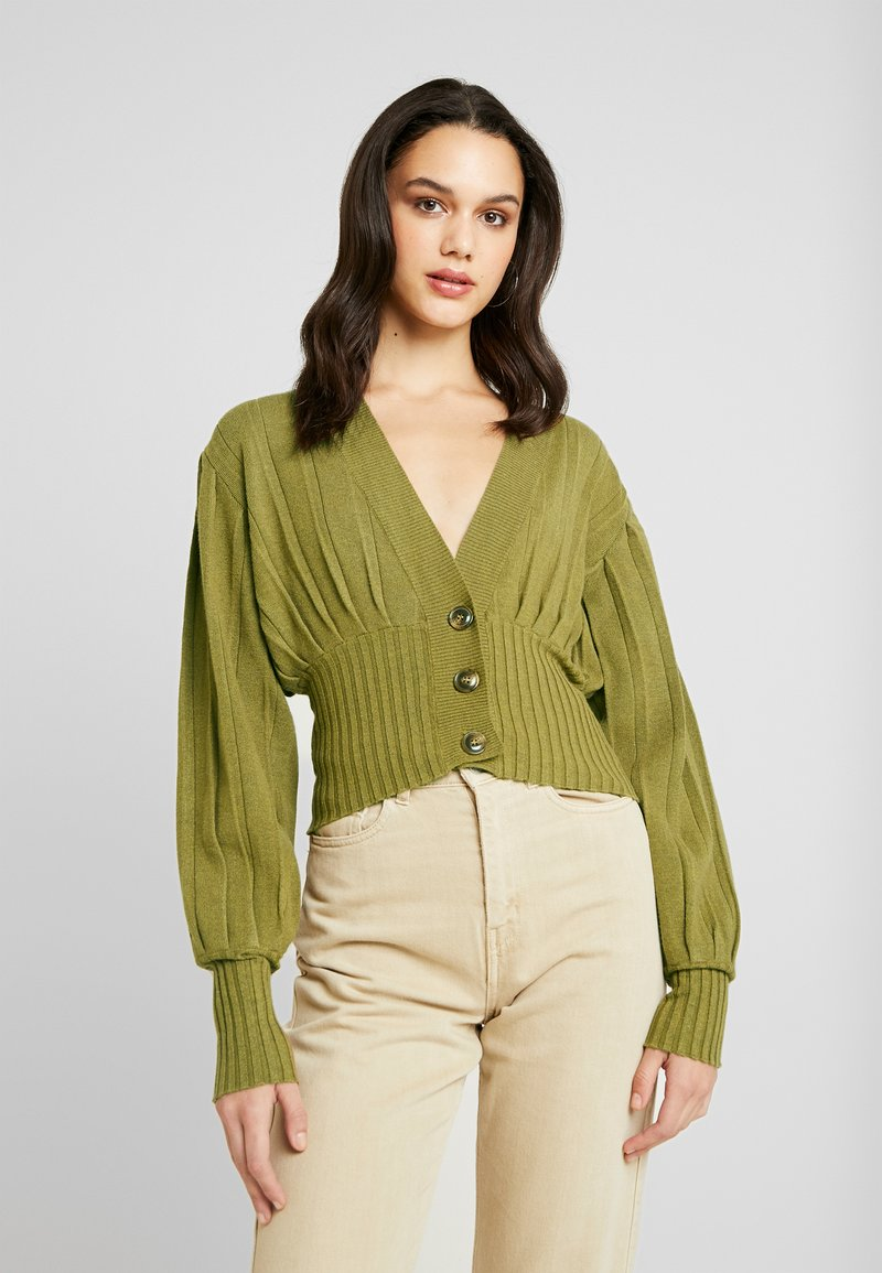 NA-KD - SHORT - Cardigan - olive green