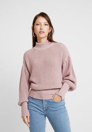 VOLUME SLEEVE HIGH NECK - Maglione - dusty pink