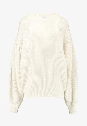 PUFF SLEEVE - Stickad tröja - off white