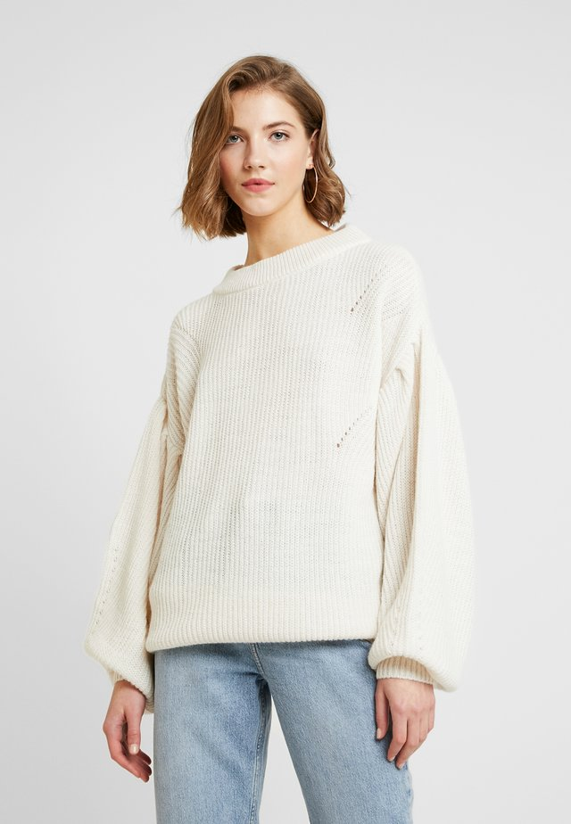 PUFF SLEEVE - Strickpullover - off white