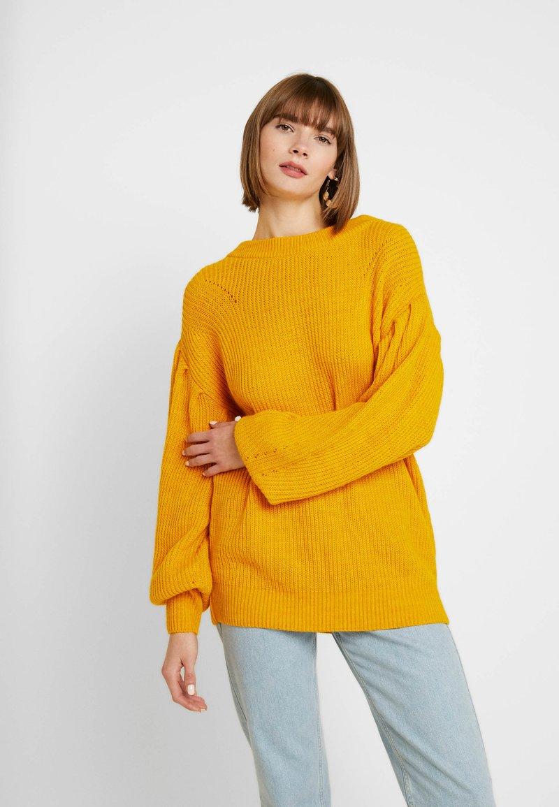 NA-KD - PUFF SLEEVE - Pullover - mustard