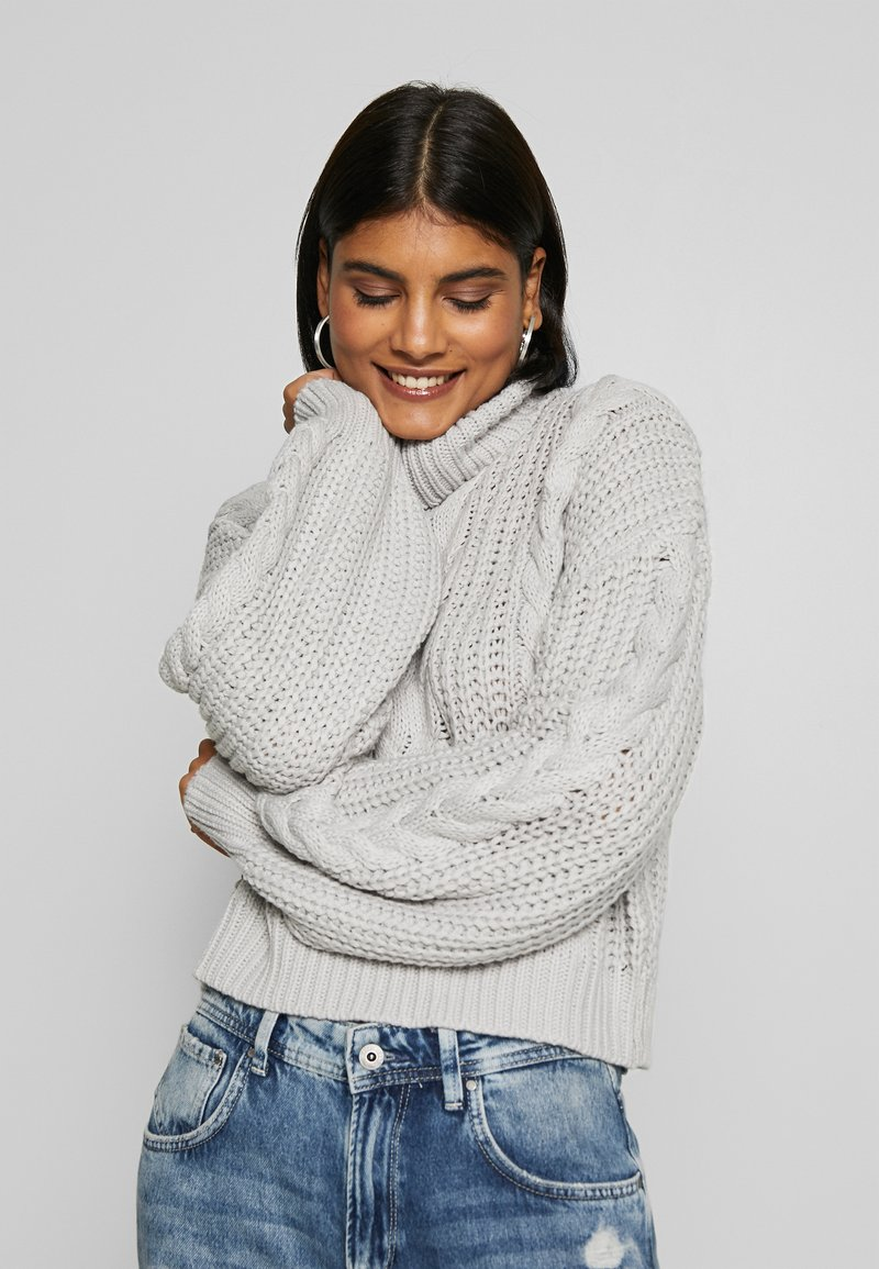 NA-KD - CHUNKY CABLE - Pullover - grey