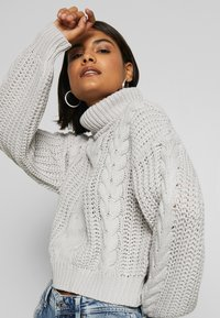 NA-KD - CHUNKY CABLE - Pullover - grey - 4