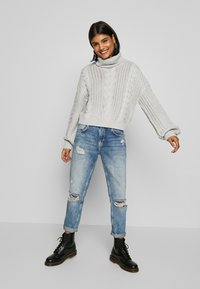 NA-KD - CHUNKY CABLE - Pullover - grey - 1