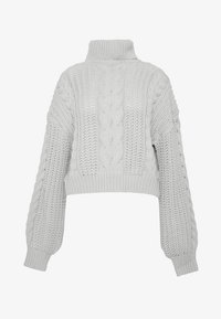 NA-KD - CHUNKY CABLE - Pullover - grey - 3