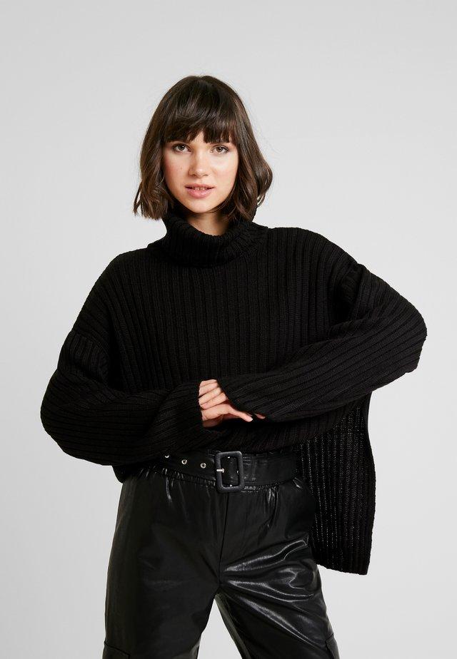 SIDE SLIT - Jersey de punto - black