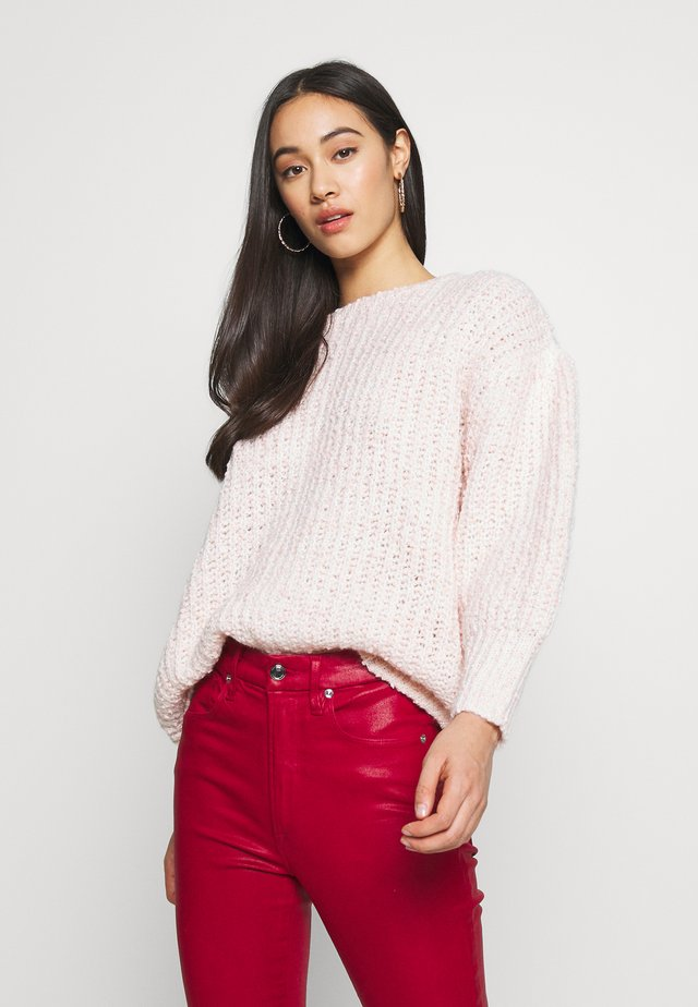 PUFF SLEEVE  - Neule - light pink
