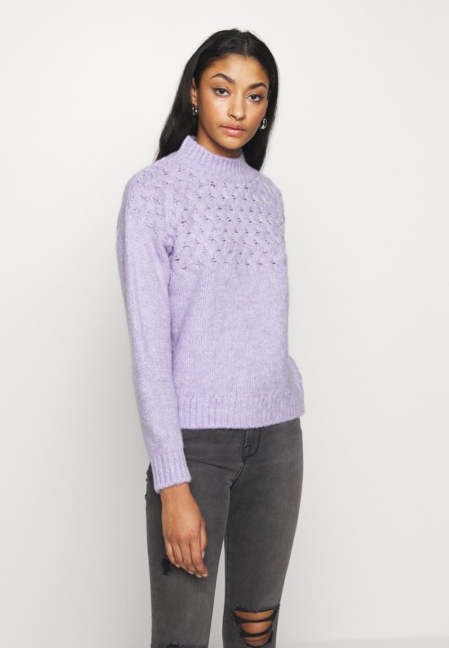 CABLE DETAIL SWEATER - Neule - lilac