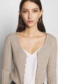 NA-KD - PEARL DETAILED CARDIGAN - Gilet - light beige - 4