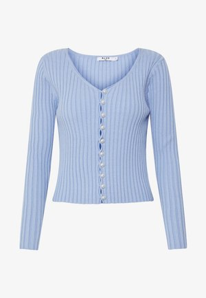 PEARL DETAILED CARDIGAN - Gilet - light blue
