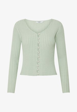 PEARL DETAILED CARDIGAN - Cardigan - dusty light green