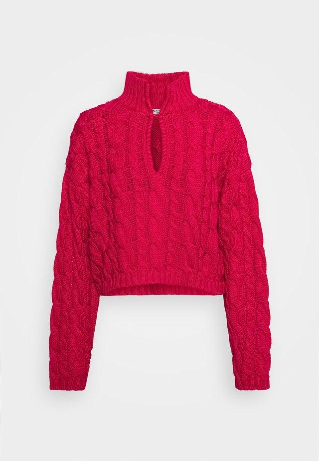 KEYHOLE OVERSIZED CROPPED - Stickad tröja - pink