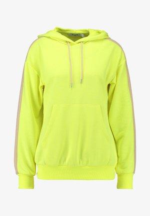 CONTRAST PANEL HOODIE - Hoodie - neon yellow