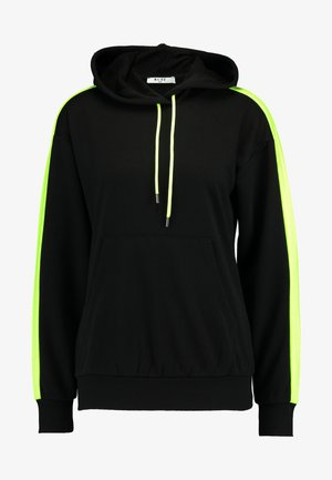 CONTRAST PANEL HOODIE - Jersey con capucha - black