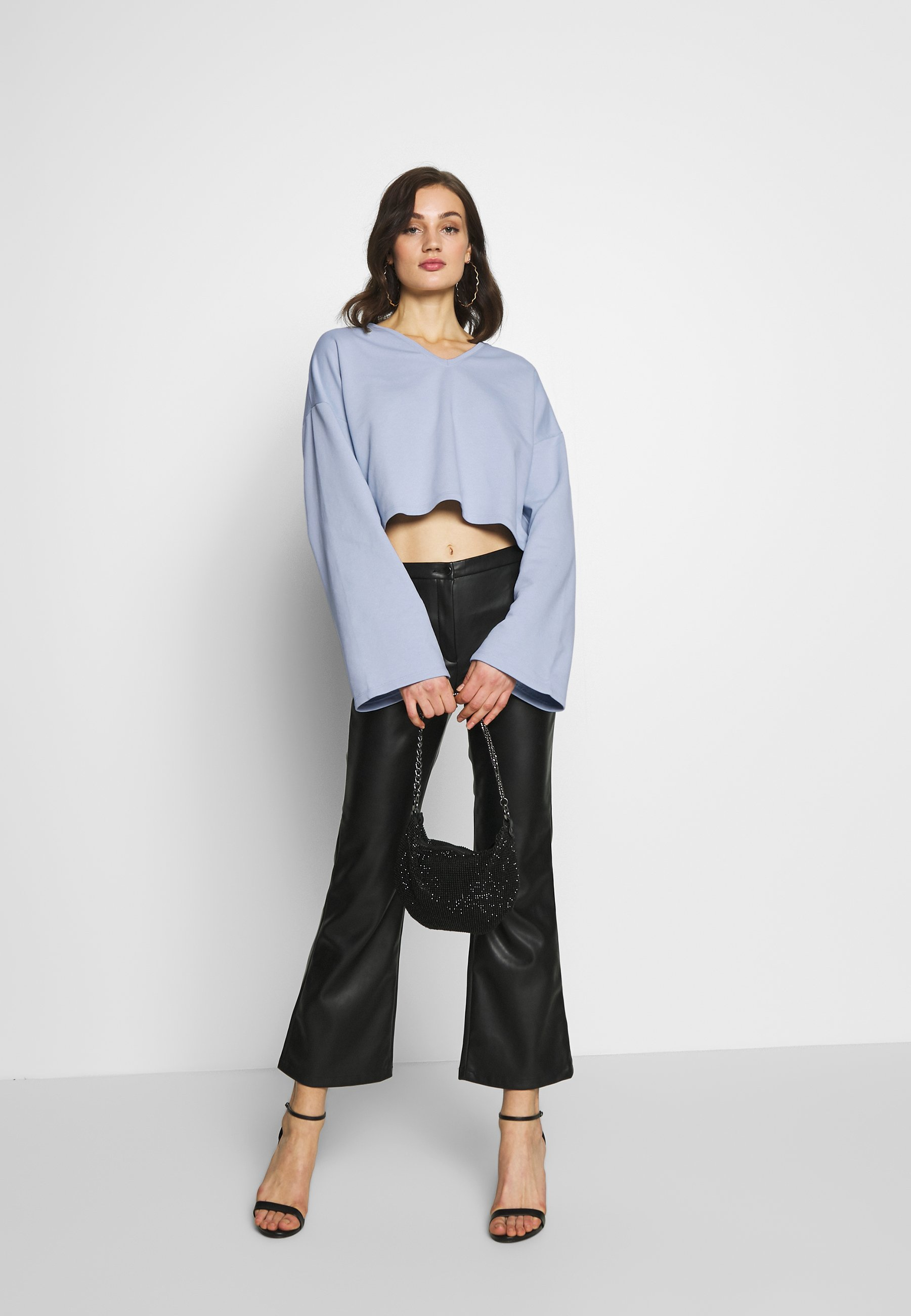 Na-kd Oversized Sweater - Sweatshirts Light Blue