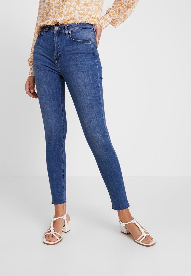 HIGH WAIST - Skinny džíny - mid blue