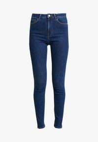 NA-KD - Pamela Reif x NA-KD HIGH WAIST - Jeans Skinny Fit - dark blue - 3