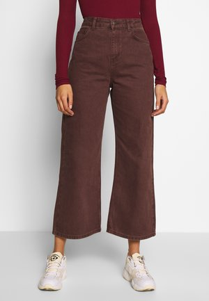 CROPPED - Jeans straight leg - brown