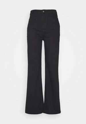 Flared jeans - deep black