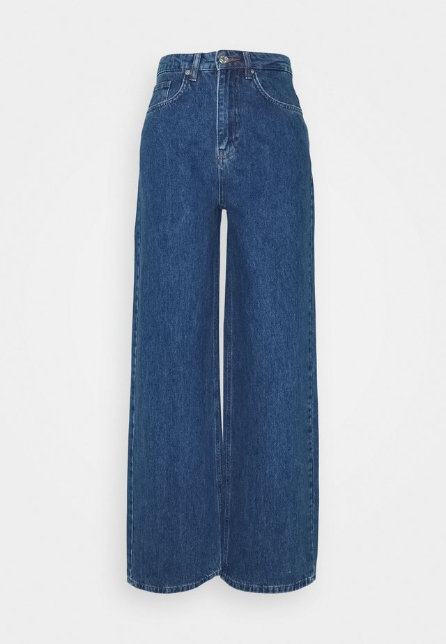 WIDE LEG  - Jeans a sigaretta - mid blue
