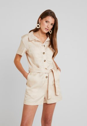 BELTED PLAYSUIT - Kombinezon - sand
