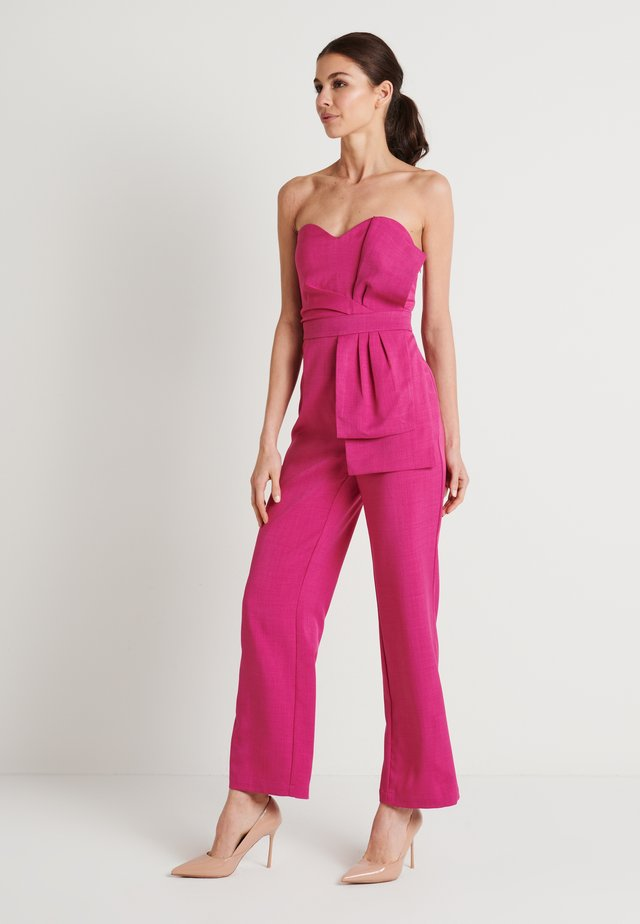 FRONT KNOT DETAIL - Overal - cerise