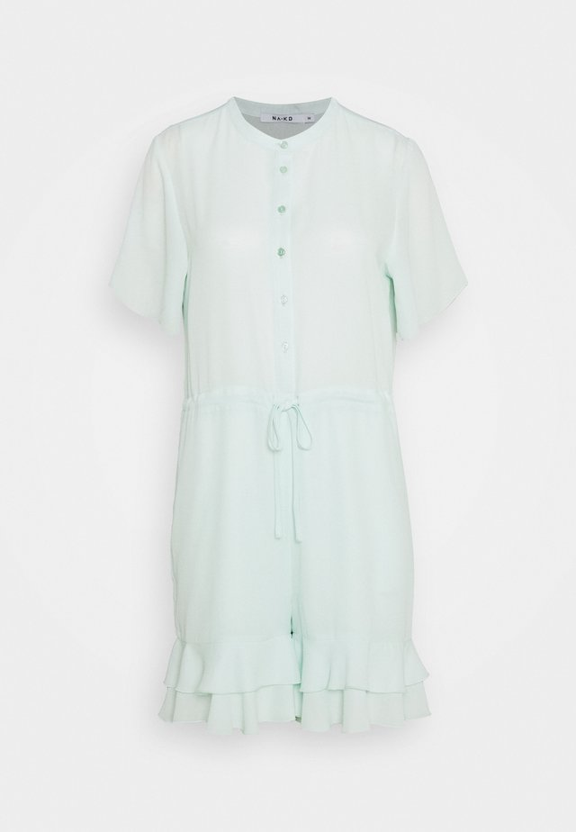 FRILL DETAIL PLAYSUIT - Overal - blue