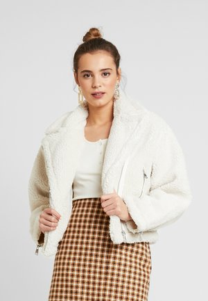 BIKER JACKET - Winter jacket - off white