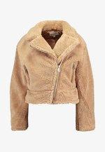 BIKER JACKET - Winter jacket - beige