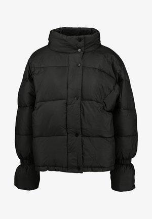 ELASTIC DETAIL PUFFER JACKET - Zimní bunda - black