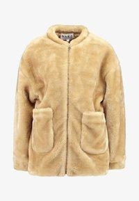 NA-KD - SHORT FRONT POCKET JACKET - Winter jacket - beige - 4