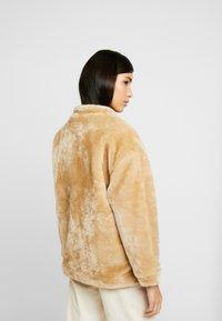 NA-KD - SHORT FRONT POCKET JACKET - Winter jacket - beige - 2