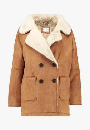 BONDED JACKET - Pitkä takki - brown