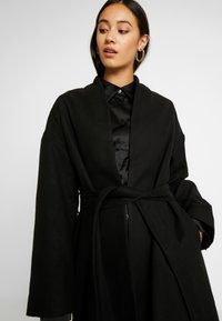 NA-KD - CLASSIC LONG COAT - Classic coat - black - 5
