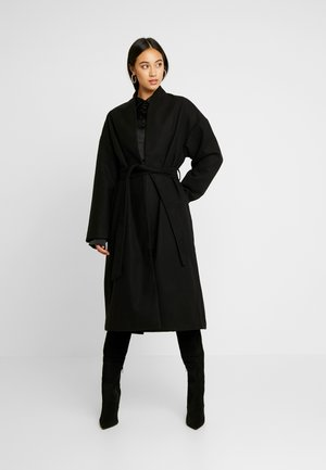 CLASSIC LONG COAT - Classic coat - black