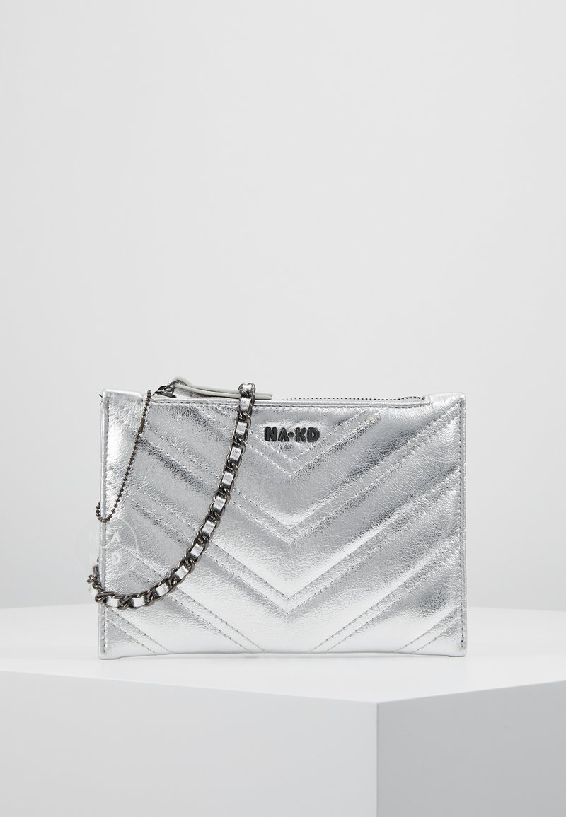 NA-KD - QUILTED - Clutch - silver
