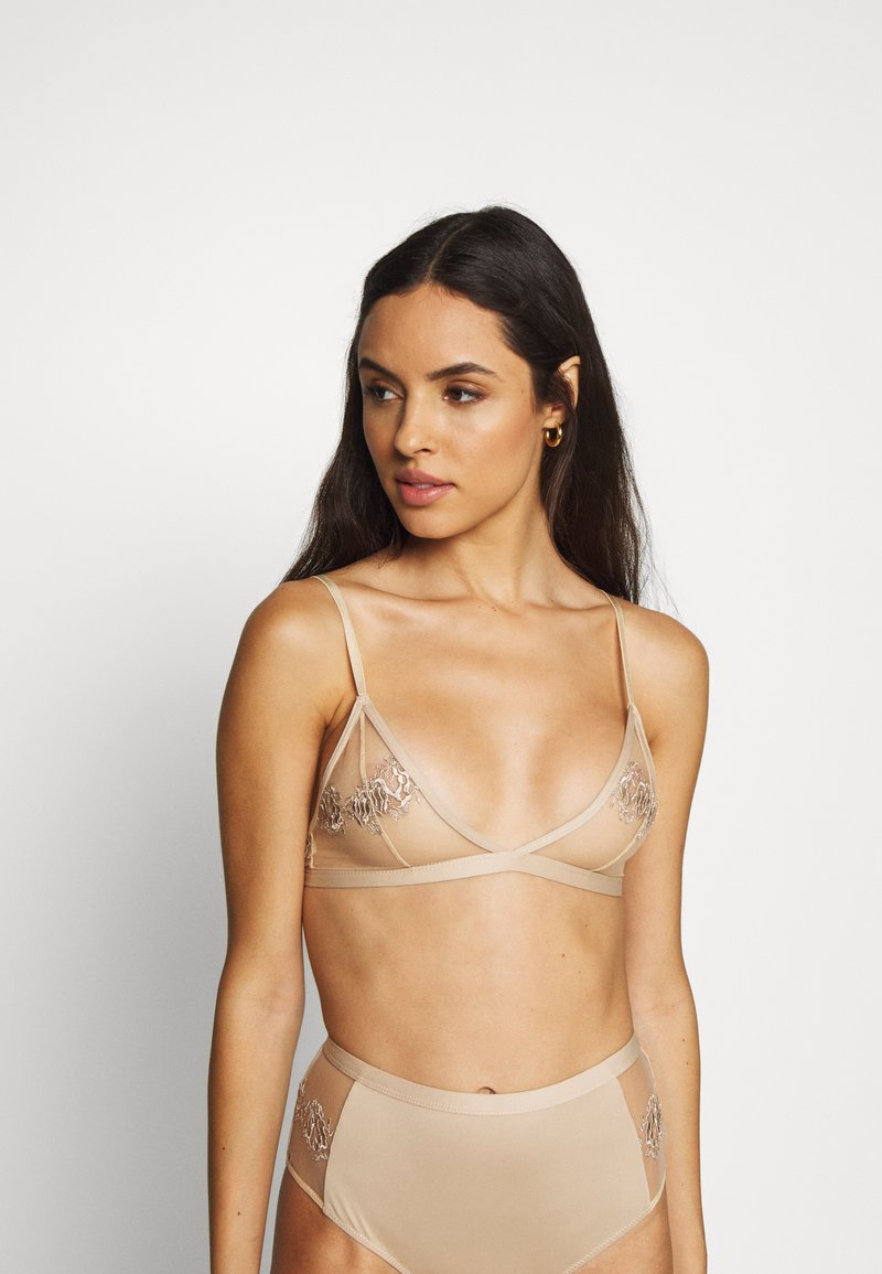 NA-KD - ROMANTIC FRENCH EMBROIDED BRALETTE - Triangel-BH - tapioca