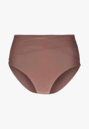 HIGHWAIST SLIM PANTY - Bikini bottoms - rose/taupe