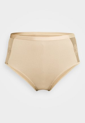 ROMANTIC FRENCH EMBROIDED HIGHWAIST PANTY - Underbukse - tapioca