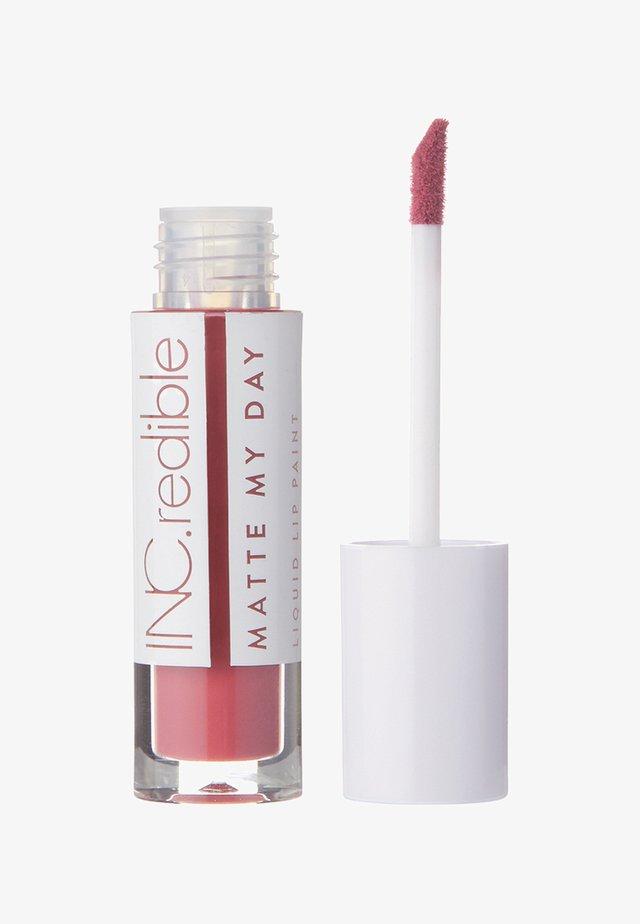 INC.REDIBLE MATTE MY DAY LIQUID LIPSTICK - Liquid lipstick - 10061 throwin it back