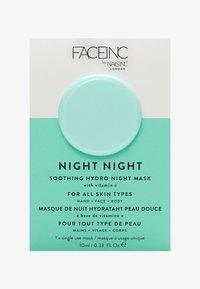 INC.redible - FACE INC NIGHT NIGHT SOOTHING HYDRO MASK 10ML - Maschera viso - 9325 neutral - 0